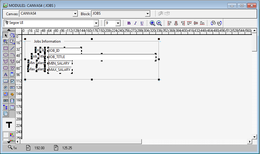 How to Create Oracle Forms by Using Wizard ? -Form Design View