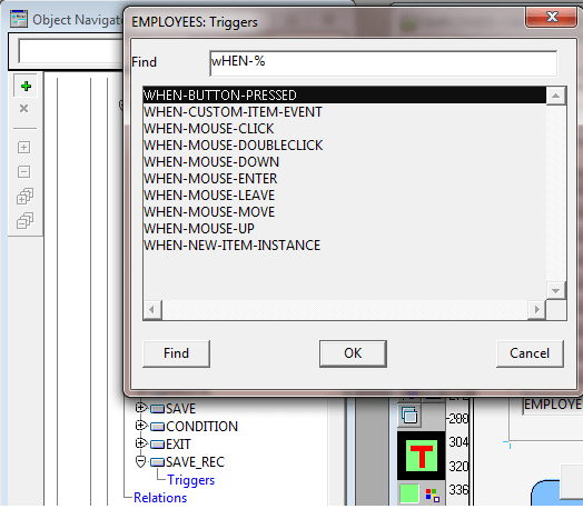 Using Triggers in Oracle Forms