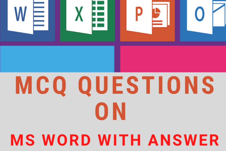 MCQ Questions on Ms Word with Answer