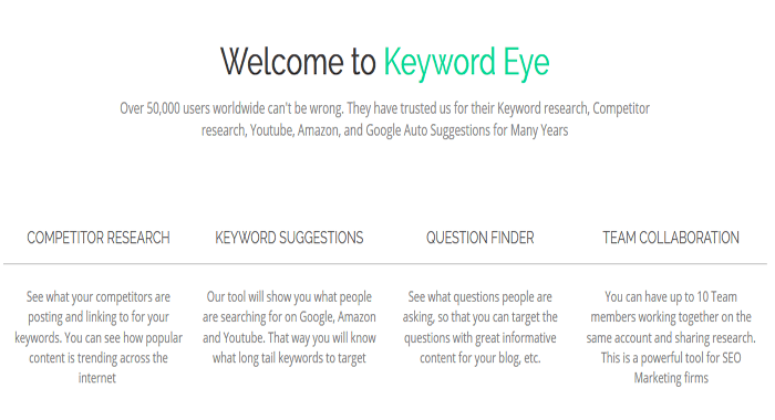 KeywordEye - Premium SEM SEO and Keyword Research Tool