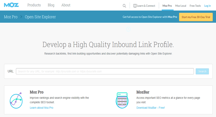 Moz Open Site Explorer - Premium SEM SEO and Keyword Research Tool