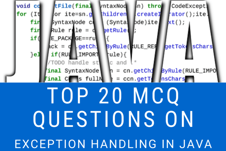 MCQ Questions On Exception Handling
