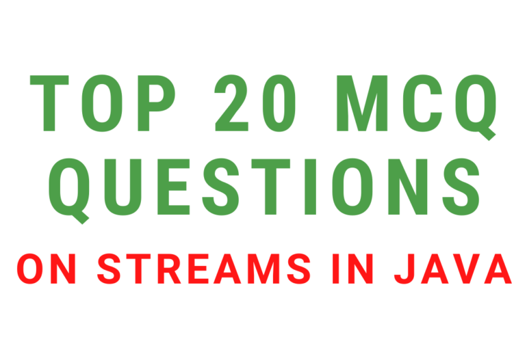 MCQ Questions On Streams In Java