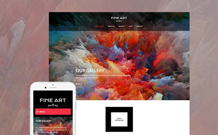 Colorful and Eye-Catching Art Gallery Responsive WordPress Theme