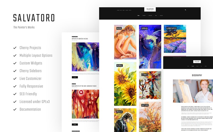 Expressive and Minimalist Salvatoro WordPress Theme
