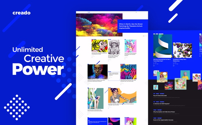 Fresh Looking and Inspiring Creado Responsive WordPress Theme for Art Gallery