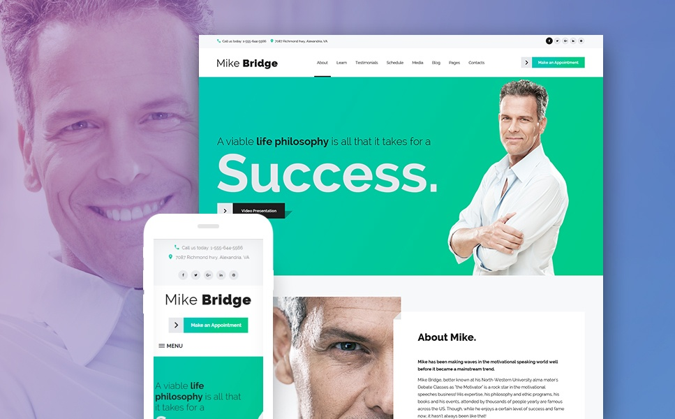 Life Coach WordPress Theme-Motivational Coach WordPress Theme