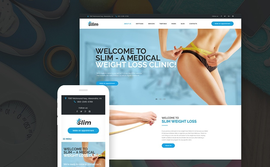 Slim - Weight Loss WordPress Theme