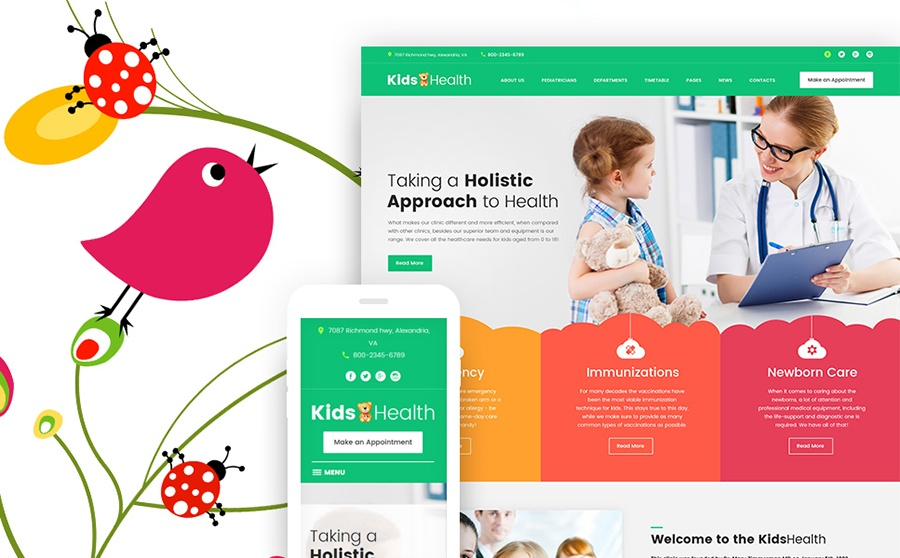 KidsHealth - Kids Clinic WordPress Theme
