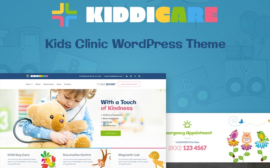 KiddiCare WordPress Theme