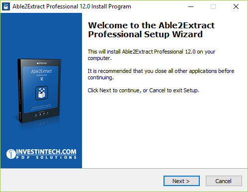 Installing Able2Extract Professional