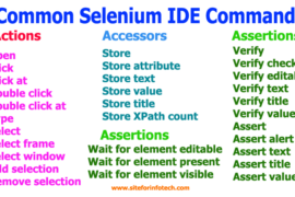 Common Selenium IDE Commands