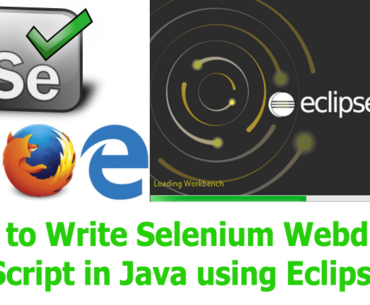 How to Write Selenium Webdriver Script in Java using Eclipse