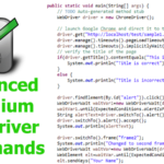 Advanced Selenium Webdriver Commands for Web Automation
