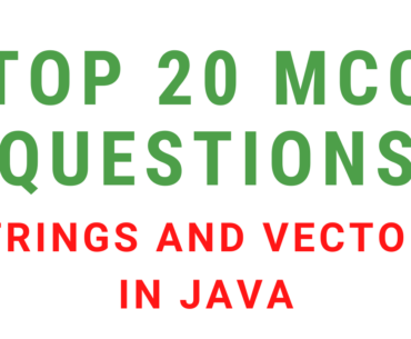 MCQ Questions On Strings And Vectors