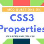 Multiple Choice Questions On CSS3 Properties