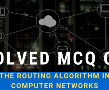 Solved MCQ on The Routing Algorithm In Computer Networks
