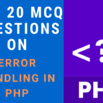 MCQ Questions on Error Handling in PHP
