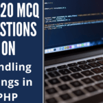 MCQ Questions on Handling Strings in PHP